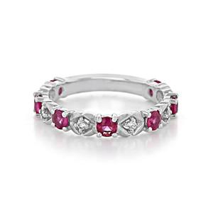Diamond & Ruby Fashion Band (W-4928D4/07)
