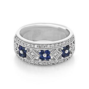 Diamond & Sapphire Band (D334)