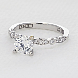 Tacori Sculpted Crescent Engagement Ring (47-2RD65)