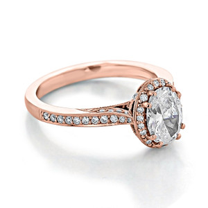 Tacori Dantela Rose Gold Engagement Ring (2620OVMD)