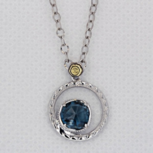 Gemma Bloom London Blue Topaz Fashion Necklace (SN14033)