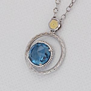Gemma Bloom Bold London Blue Topaz Fashion Necklace (SN14133)