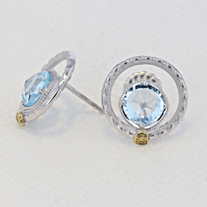 Gemma Bloom Sky Blue Topaz Fashion Earrings (SE14002)