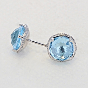 Gemma Bloom Sky Blue Topaz Fashion Earrings (SE15402)