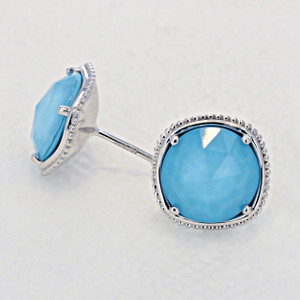 Gemma Bloom Bold Neo-Turquoise Fashion Earrings (SE15605)