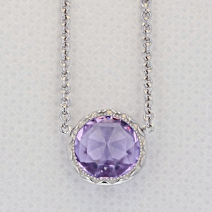 Crescent Embrace Amethyst Fashion Necklace (SN15301)