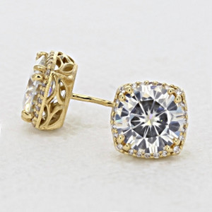 Tacori  Dantela Moissanite Fashion Earrings (FE6438Y)