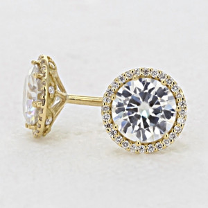 Tacori  Diamond Bloom Moissanite Fashion Earrings (FE6707Y)
