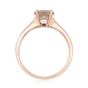 Rose Gold Morganite Engagement Ring (R921)