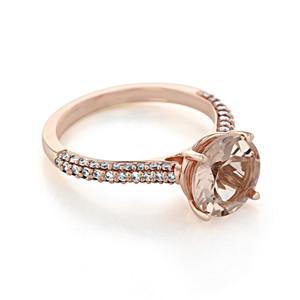 Rose Gold Morganite Engagement Ring (R939-4)