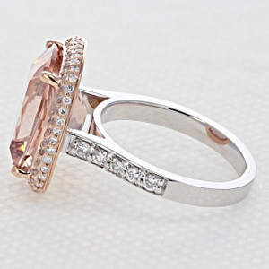 Rose Gold Morganite Engagement Ring (R967-4)