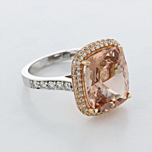 Rose Gold Morganite Engagement Ring (R967-4)