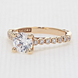 Tacori Sculpted Crescent Engagement Ring (200-2RD65)