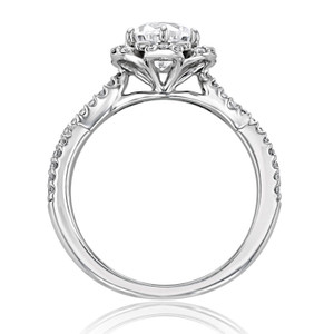 Floral Halo Engagement Ring (FG528)