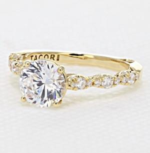 Tacori Petite Crescent Engagement Ring (HT2558RD75)