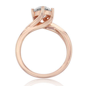 evertrue Rose Gold Solitaire Engagement Ring (EV434)