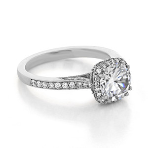 Tacori Dantela Moissanite Engagement Ring (2620RDMDP-M)