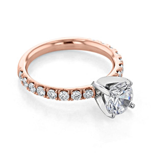Rose Gold Moissanite Micro-Prong Engagement Ring (CR190R-M)
