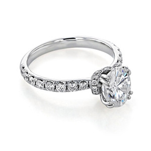 Oval Micro-Prong Moissanite Engagement Ring (CR198-M)