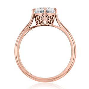 Rose Gold Solitaire Engagement Ring (SO70)