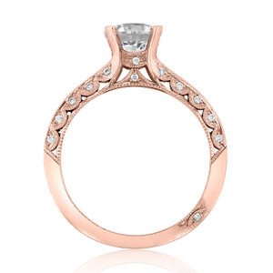 Tacori Rose Gold Classic Crescent Moissanite Engagement Ring (2616RD65PK-M)