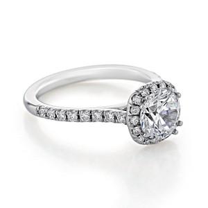 Halo Moissanite Engagement Ring (EV14-M)