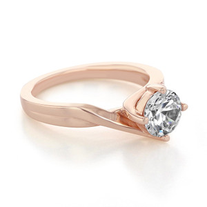 Rose Gold Moissanite Engagement Ring (EV434-M)