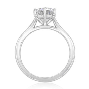 Solitaire Moissanite Engagement Ring (EV117-M)