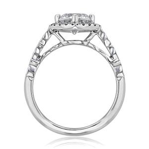 Halo Pavé Moissanite Engagement Ring (CR11-M)