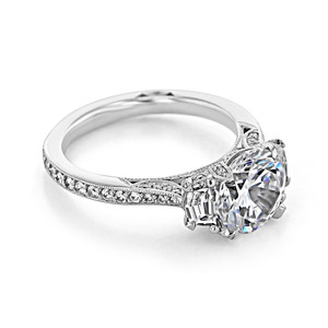 Tacori RoyalT Engagement Ring (HT2655RD85)