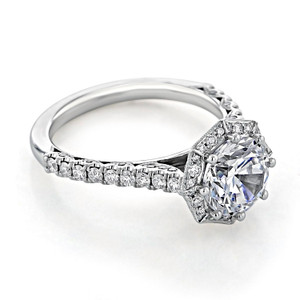 Tacori Petite Crescent Moissanite Engagement Ring (HT2555RD8-M)