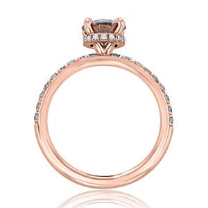 Rose Gold Grey Moissanite Engagement Ring (CR19)
