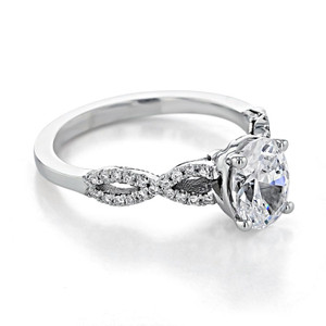 Tacori Coastal Crescent Engagement Ring (P105OV8X6)
