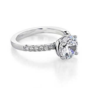 Tacori Coastal Crescent Engagement Ring (P1042RD8)