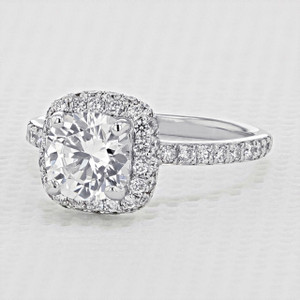 Halo Pavé Engagement Ring (DC71)