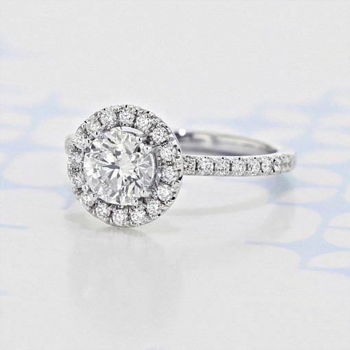 Halo Round Shape Diamond Engagement Ring (2006356)