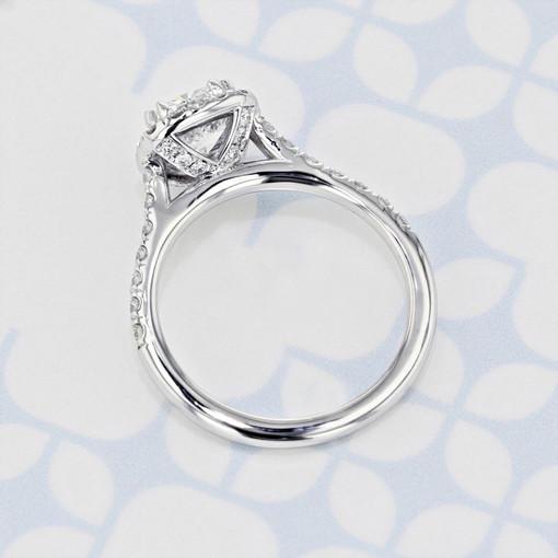 Halo Cushion Shape Diamond Engagement Ring (2006135)