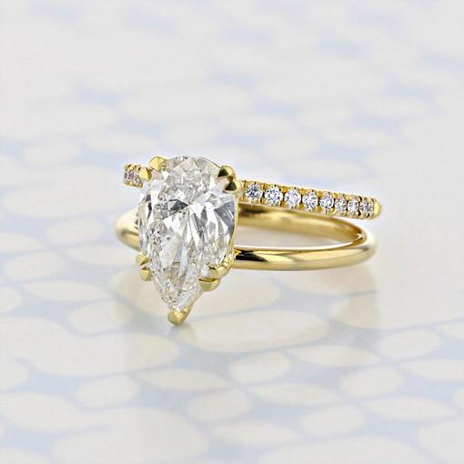 Danhov Split Ring Body Pear Shape Diamond Engagement Ring (2006049)