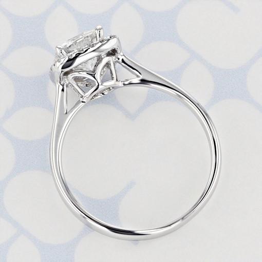 Halo Cushion Shape Moissanite Engagement Ring (2006368)