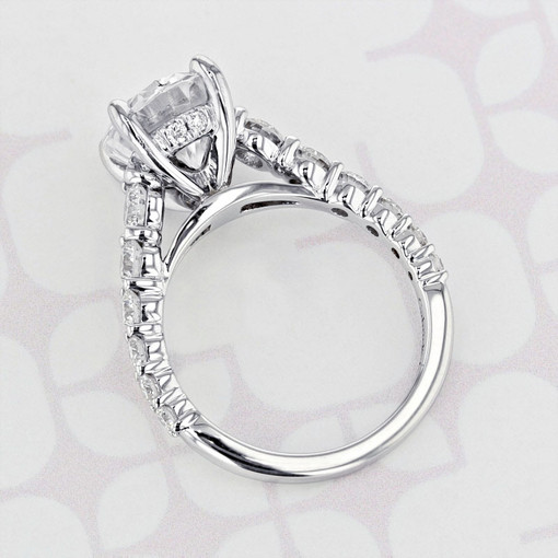 Gabriel NY Prong Oval Shape Moissanite Engagement Ring (2006097)