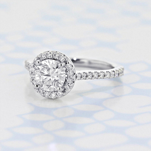 Gabriel NY Halo Round Shape Diamond Engagement Ring (2006202)