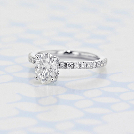 Gabriel NY Micro-Prong Oval Shape Moissanite Engagement Ring (2006306)