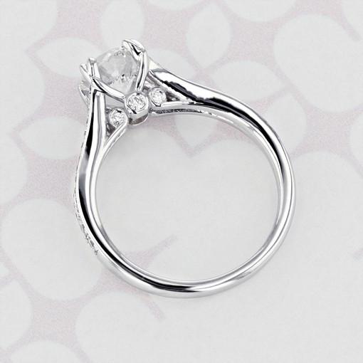 Gabriel NY Split Ring Body Round Shape Lab Diamond Engagement Ring (2006110)