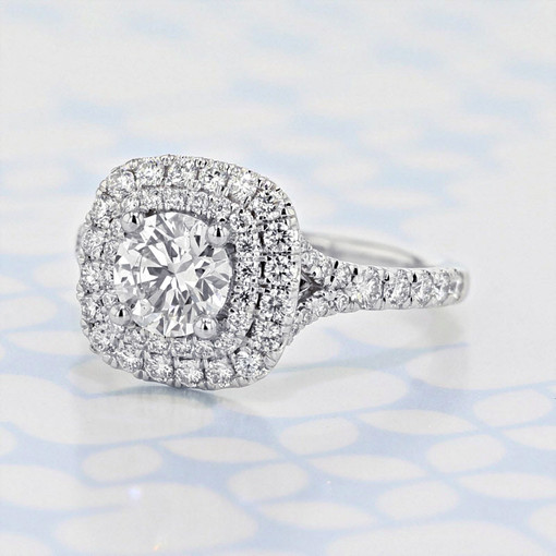 Gabriel NY Halo Round Shape Lab Diamond Engagement Ring (2006209)
