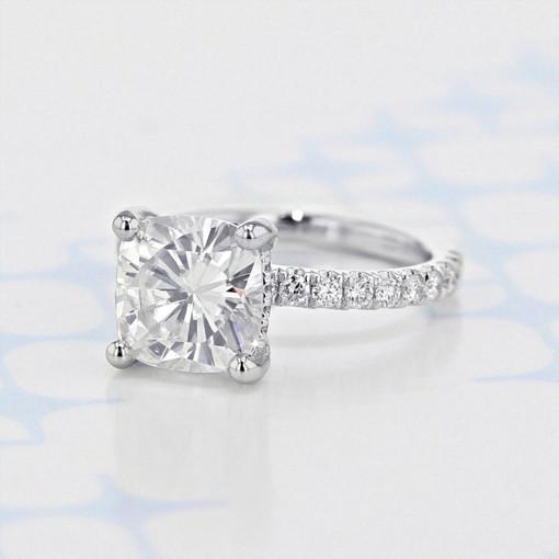Gabriel NY Micro-Prong Cushion Shape Moissanite Engagement Ring (2006109)