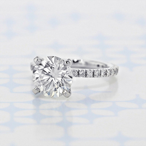 Micro-Prong Round Diamond Engagement Ring (GC188)