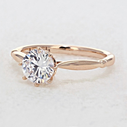 Rose Gold Solitaire Engagement Ring (AV23R)