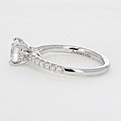 Micro-Prong Engagement Ring (AV18)