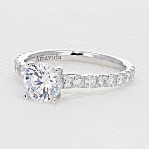 Micro-Prong Engagement Ring (AV33)