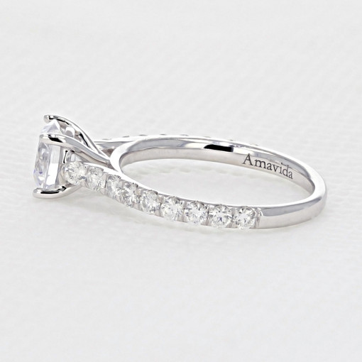 Micro-Prong Engagement Ring (AV33)